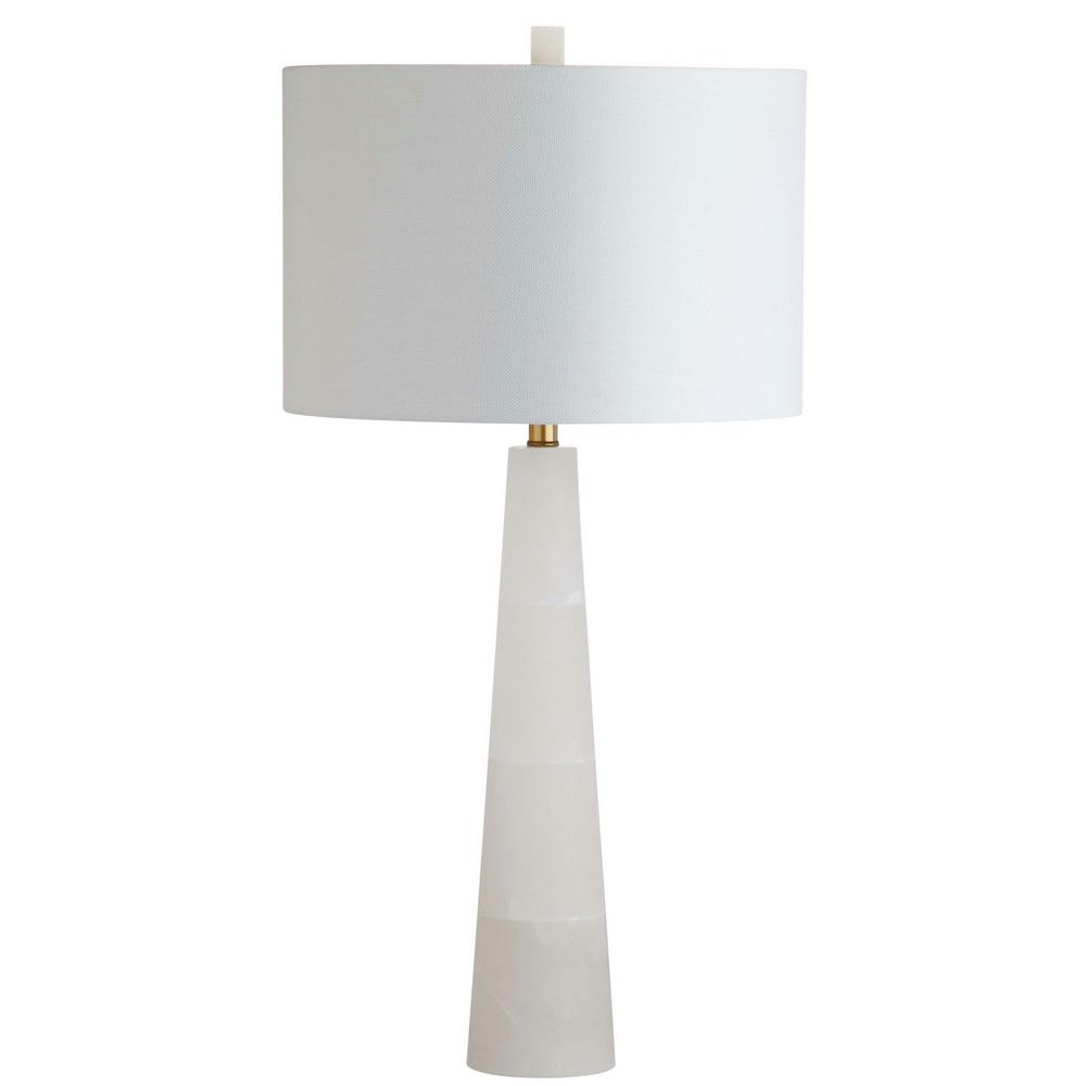 safavieh delilah 30 in white marble alabaster table lamp with off white shade tbl4067a the home depot