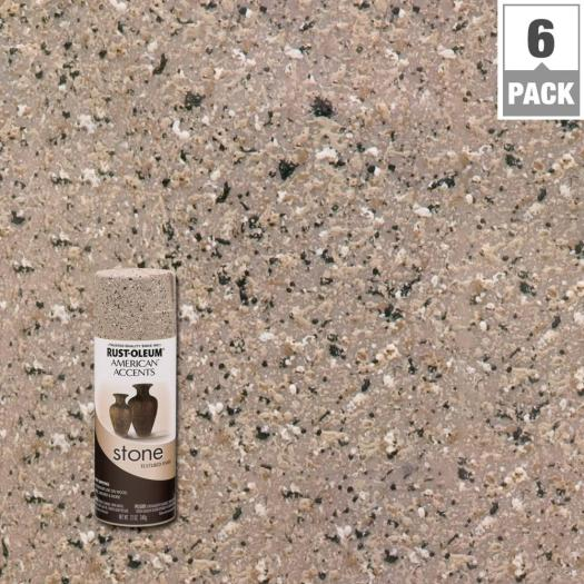 Rust Oleum American Accents 12 Oz Stone Pebble Textured Spray Paint 6