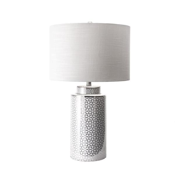 Nuloom Austin 29 In Silver Contemporary Table Lamp Dimmable Mct07aa The Home Depot