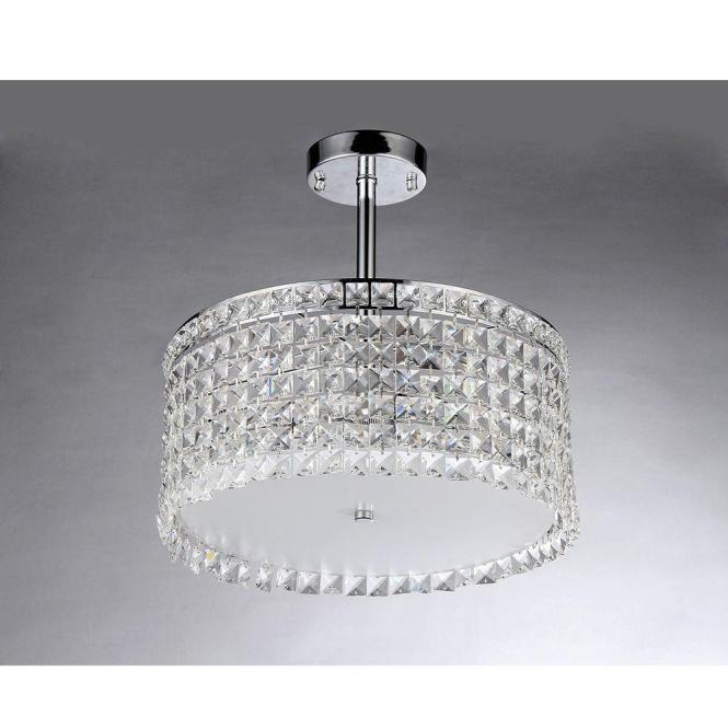 Garcia Crystal 4 Light Chrome Chandelier With Shade