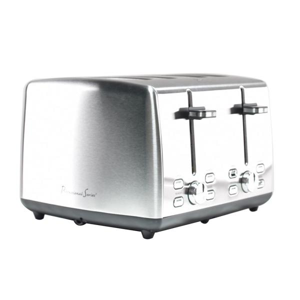 Continental Electric Professional Series 4 Slice Stainless Steel     Continental Electric Professional Series 4 Slice Stainless Steel Toaster