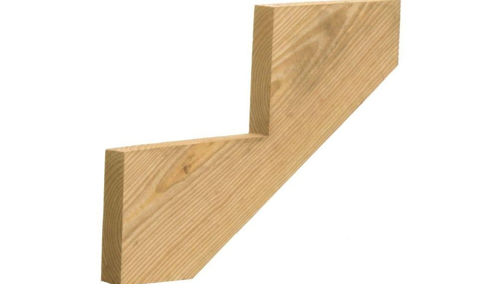 2 Step Ground Contact Pressure Treated Pine Stair Stringer 298239 | Wood Stringers For Stairs | Metal | Double Stringer | Stair Tread | Framing Square | Risers