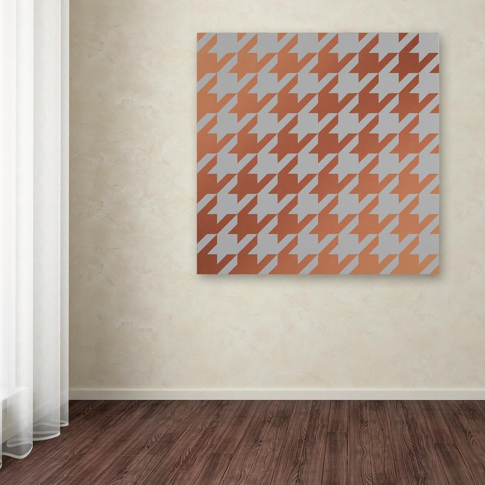 Trademark Fine Art 35 In X 35 In Xmas Houndstooth 4 By