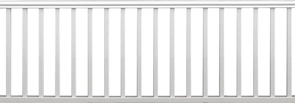 Veranda Traditional 8 Ft X 36 In White Polycomposite Rail Kit | Indoor Railings Home Depot | Wrought Iron | Barn Post Custom | Balusters | Wood Stair | Unique