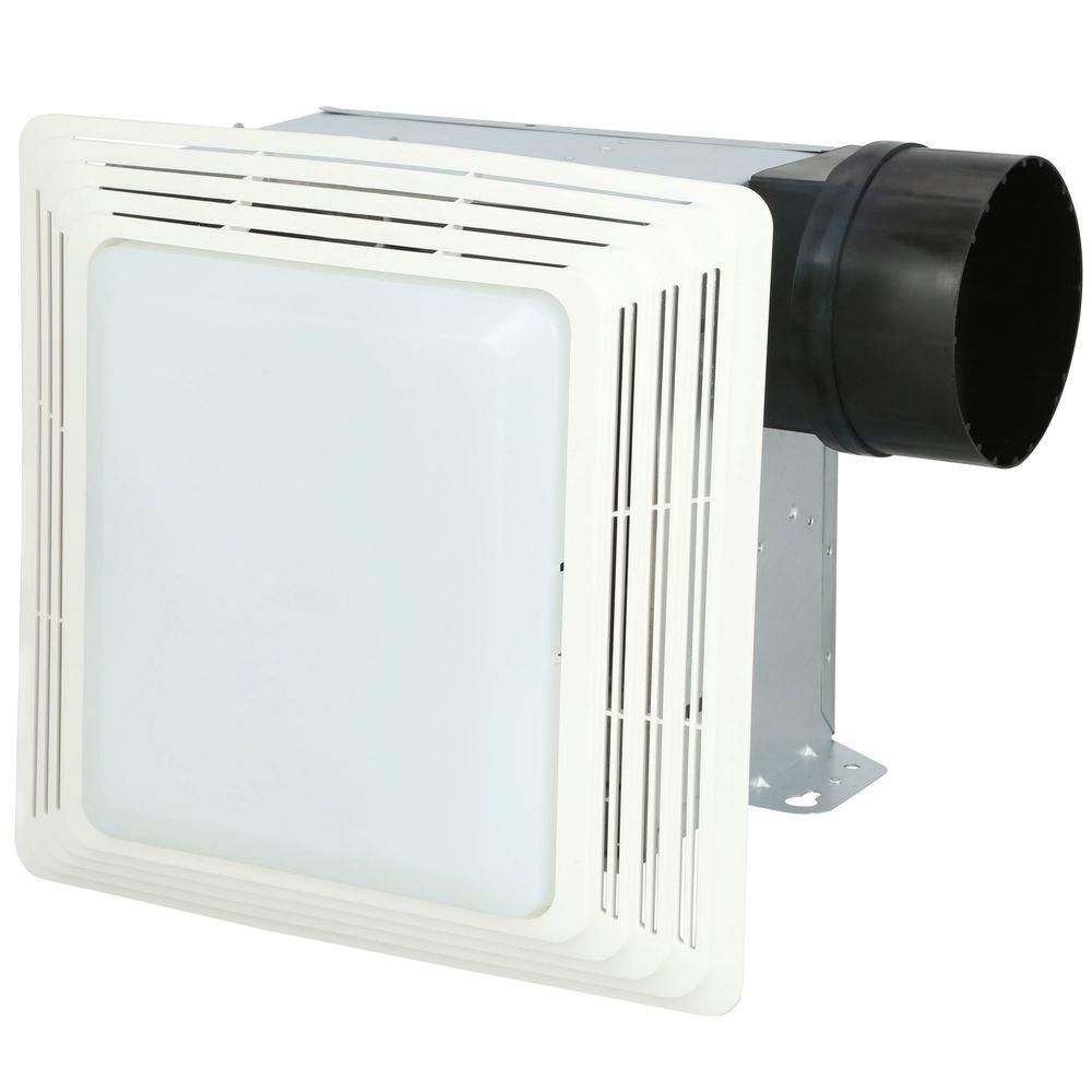 50 cfm ceiling exhaust bath fan with light-678 - the home depot