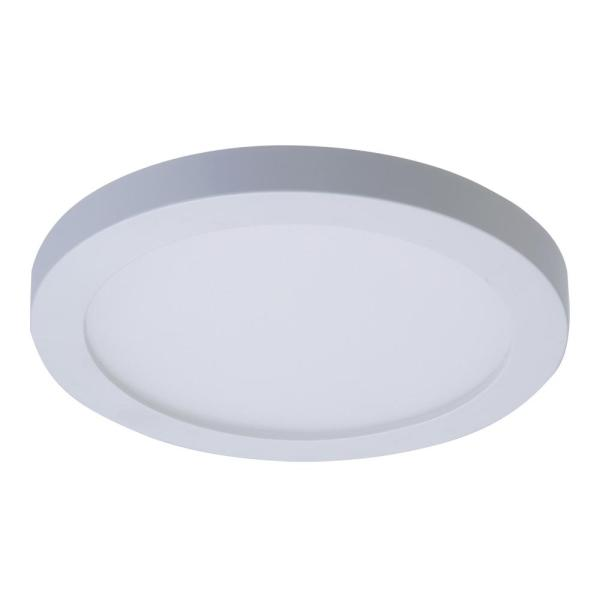 Halo SMD 4 in  White Integrated LED Recessed Round Surface Mount     White Integrated LED Recessed Round Surface Mount Ceiling Light Fixture  with 90 CRI  5000K Daylight