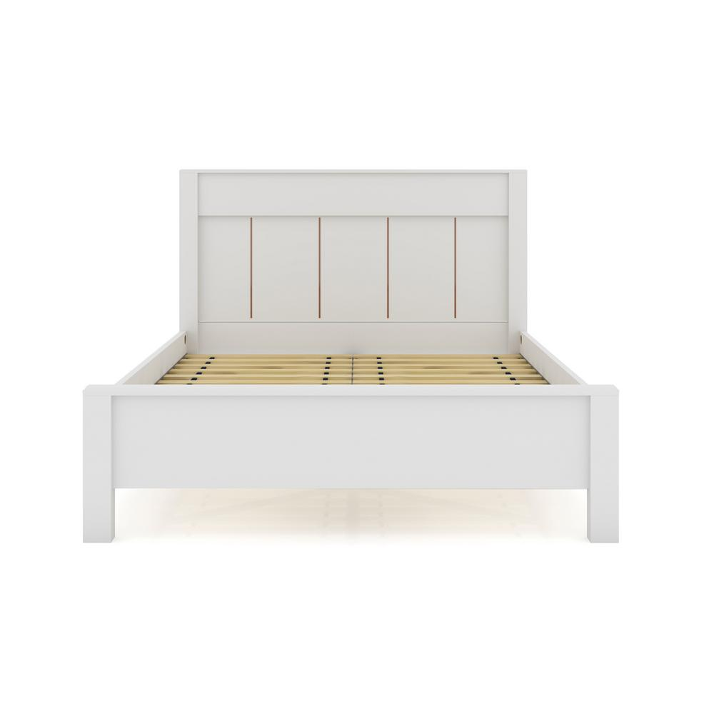 luxor oswego white queen size modern bedframe with headboard 106hd1 the home depot