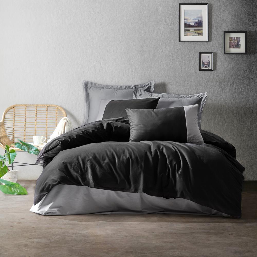 sussexhome black gray gentleman duvet cover set king size duvet cover 1 duvet cover 1 fitted sheet and 2 pillowcases iron safe bgg dcs gra ks