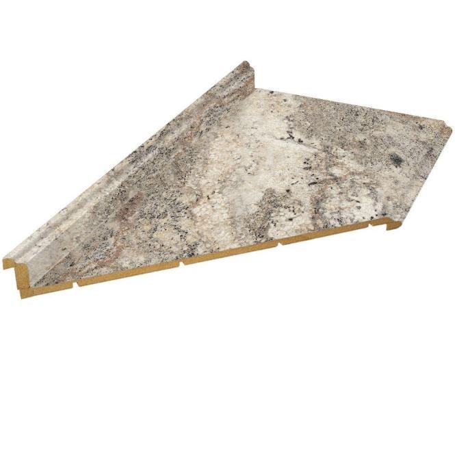 Hampton Bay 10 Ft Laminate Countertop With Left Miter In Clic Crystal Granite Valencia
