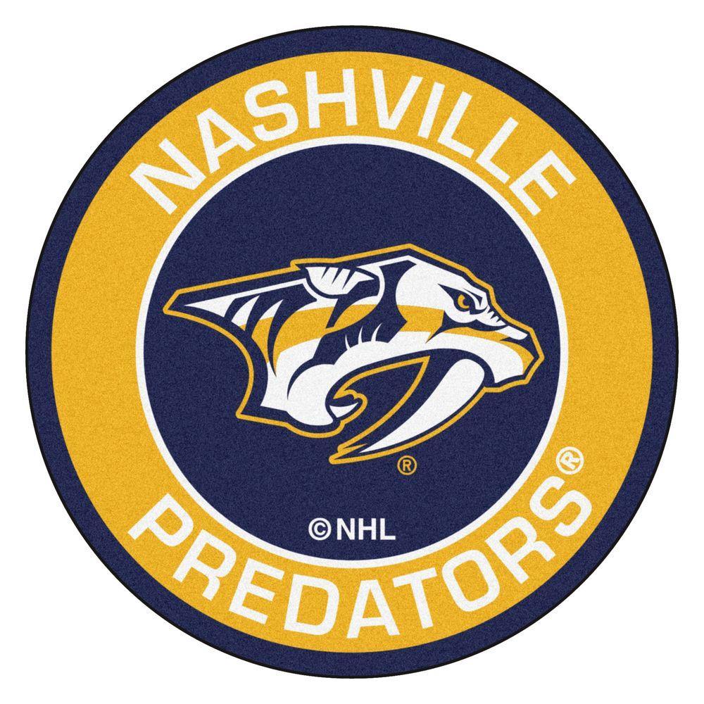 FANMATS NHL Nashville Predators Yellow 2 Ft X 2 Ft Round