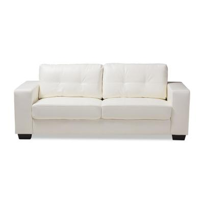 faux leather sofas living room