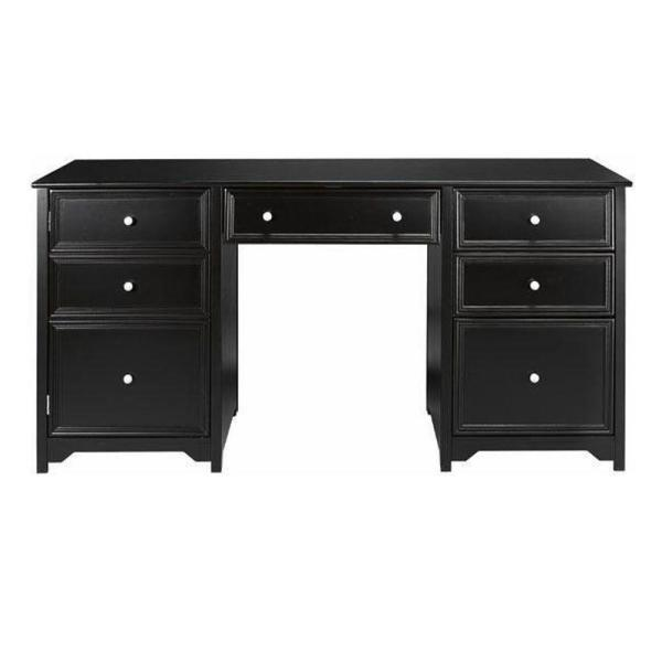 Home Decorators Collection Oxford Black Desk 0151200210   The Home Depot Home Decorators Collection Oxford Black Desk