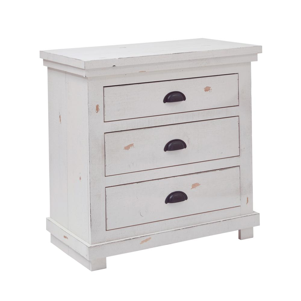 progressive furniture willow 3 drawer distressed white nightstand p610 43 the home depot