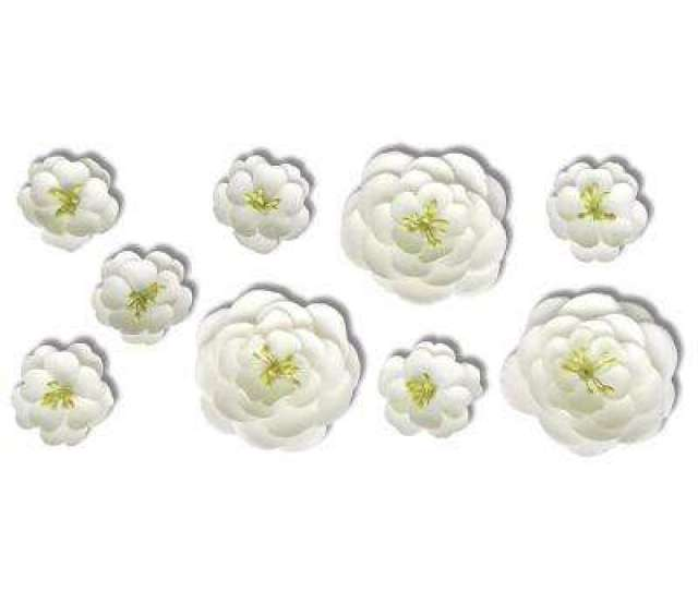 In X   In White Flower  Piece Surface Embellishments