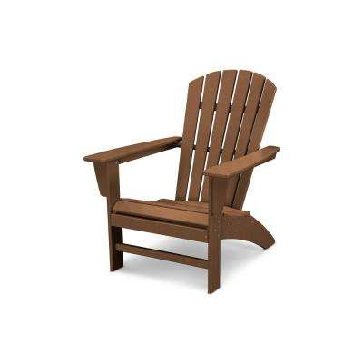 traditional curveback teak plastic outdoor patio adirondack chair
