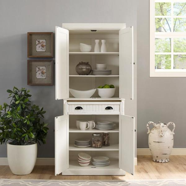 Unbranded Seaside White Kitchen Pantry Cf3103 Wh The Home Depot