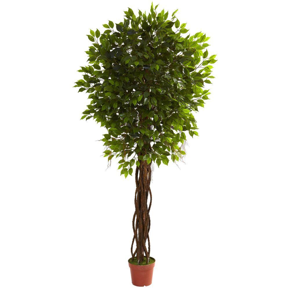 Nearly Natural 75 Ft UV Resistant IndoorOutdoor Ficus