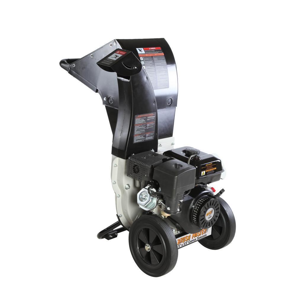 Brush Master 525 In X 375 In Dia Gas Powered Chipper Shredder 445 Cc 120 Volt Electric Start