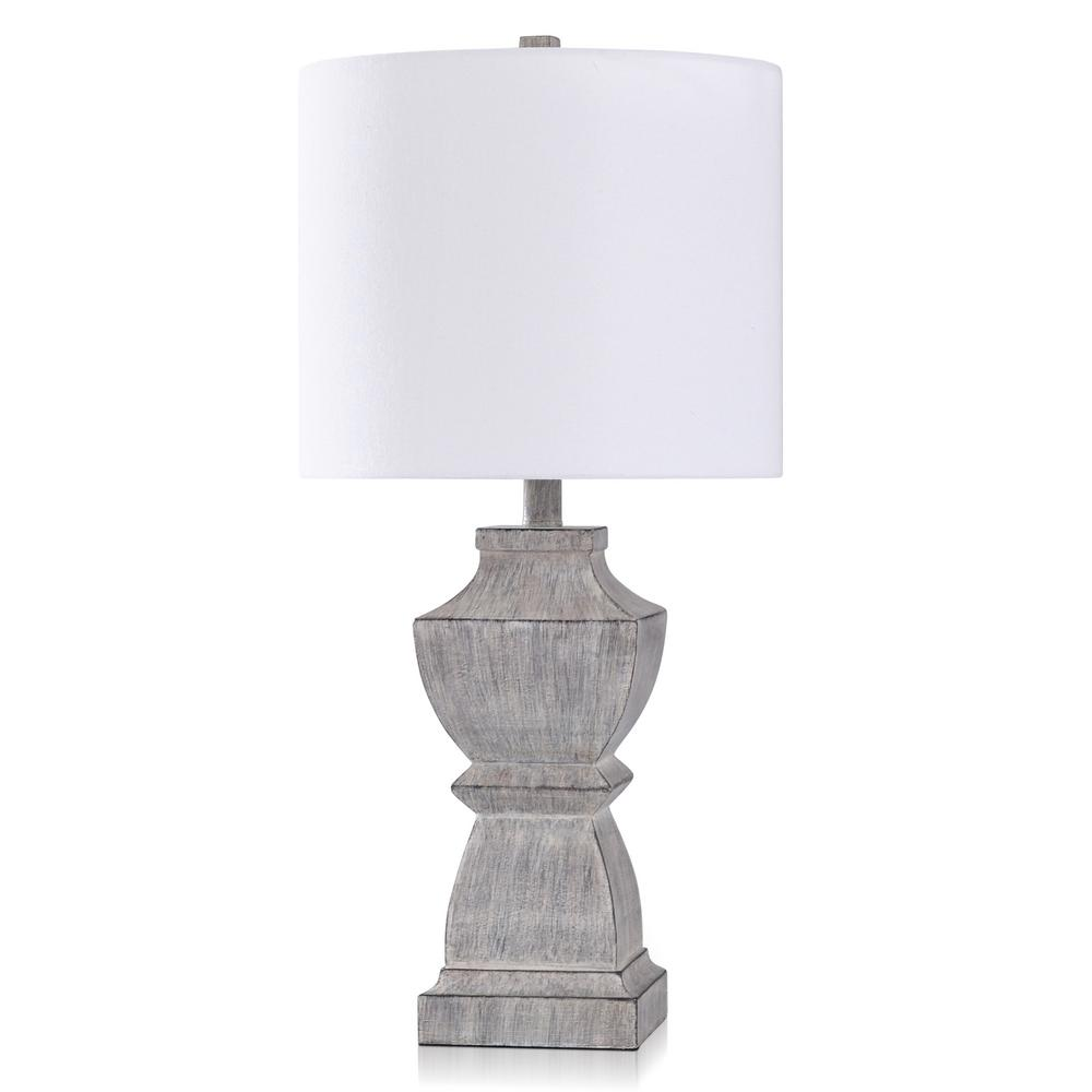 Stylecraft Odette 25 75 In Grey Wash Bedside Lamp L10428xds The Home Depot