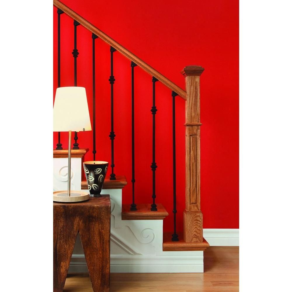 Ole Iron Slides 1 2 In X 1 2 In X 30 1 4 In To 38 In Satin | Wrought Iron Railings Home Depot | Ornamental | Front Porch | Outdoor | Indoor | Staircase
