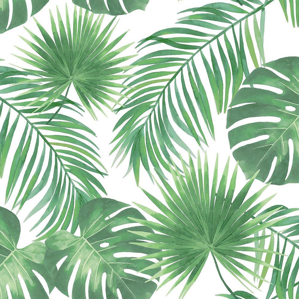 Unbranded Patti Light Green Leaves Light Green Wallpaper Sample Dd139013sam The Home Depot
