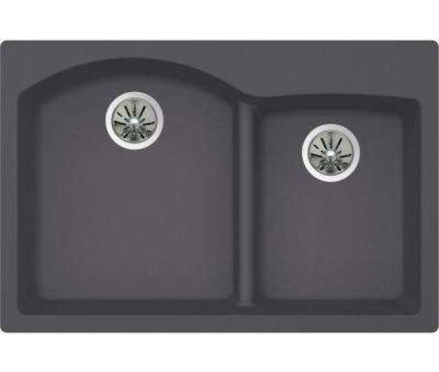 Premium Quartz Drop In Undermount Composite  In Double Bowl Kitchen Sink In