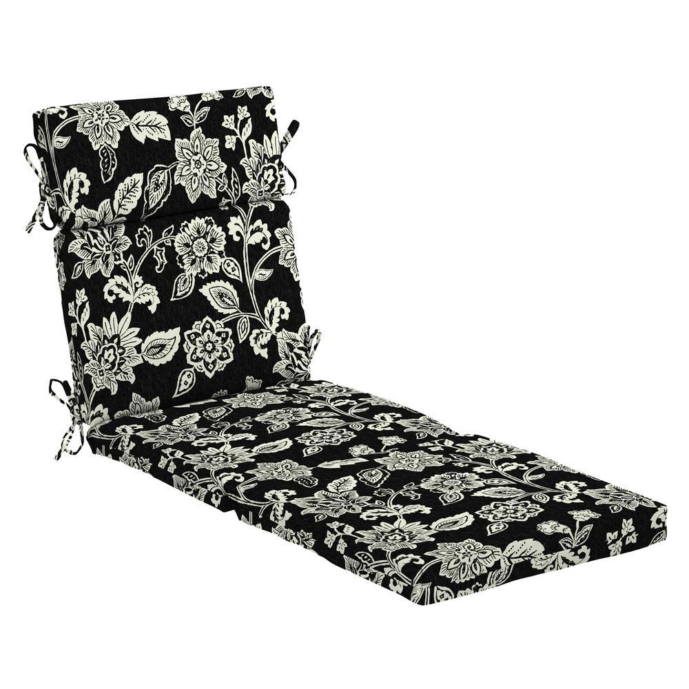 black chaise lounge cushions