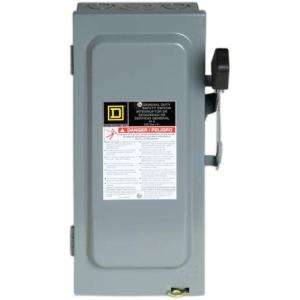 Square D 30 Amp 240Volt 3Pole 3Phase Fused Indoor