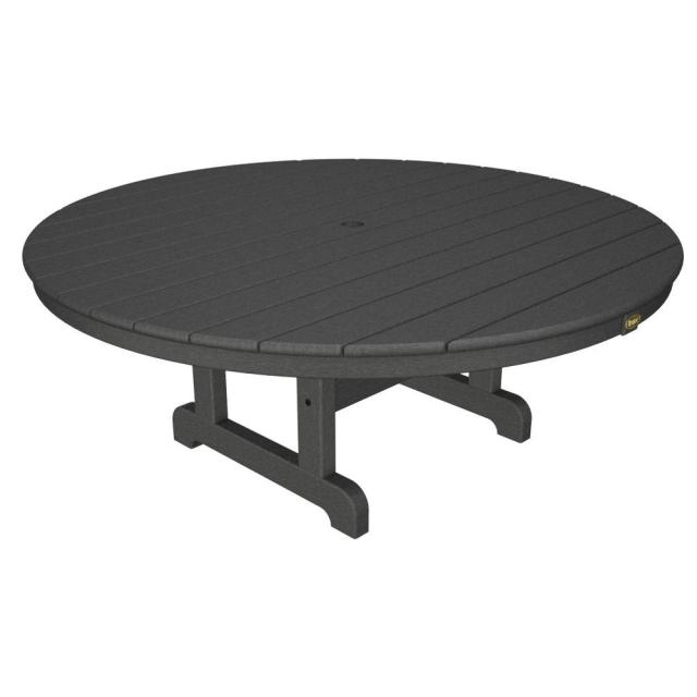trex outdoor furniture cape cod stepping stone 48 in. round outdoor