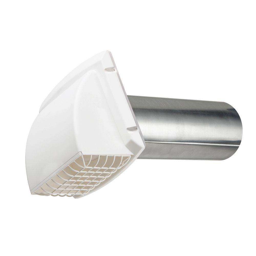Everbilt Wide Mouth Dryer Vent Hood In White Bpmh4whd6 The Home Depot