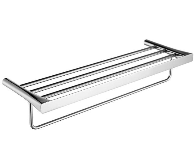 Caster  Bar Towel Rack In Polished Chrome