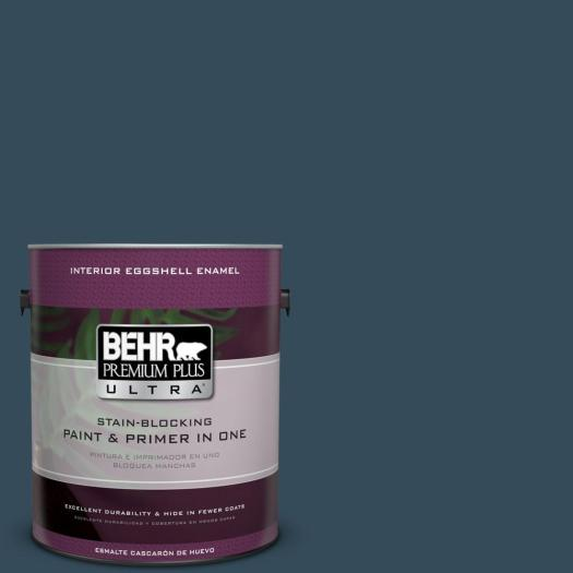 Behr Premium Plus Ultra Home Decorators Collection 1 Gal Hdc Cl 28 Nocturne Blue Eggs Enamel Interior Paint 275301 The