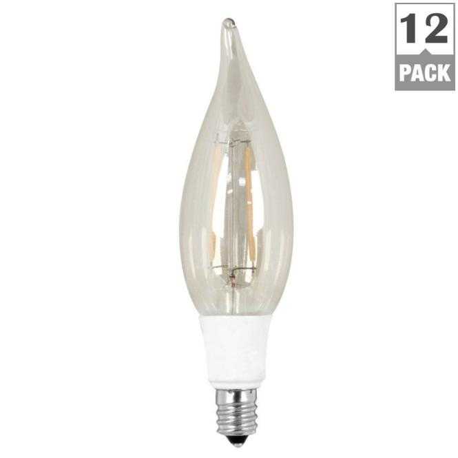 Feit Electric 40w Equivalent Soft White 2200k Ca10 Candelabra Base Dimmable Led Vintage Style