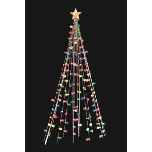 Home Accents Holiday 7 Ft Cone Tree With 105 Multi Color