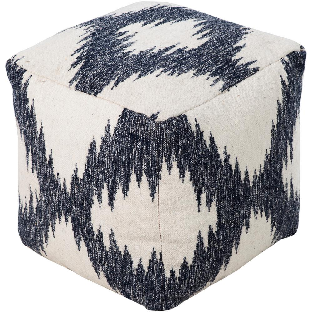 artistic weavers francisco navy accent pouf ottoman s00151050993 the home depot