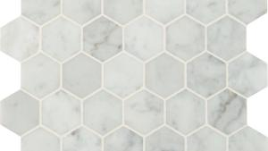 MSI Carrara White Hexagon 12 In X 12 In X 10mm Polished