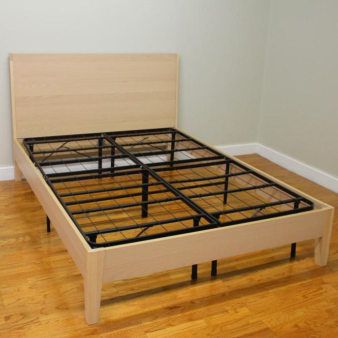 Hercules Cal King Size 14 In H Heavy Duty Metal Platform Bed Frame 125001 5070 The Home Depot