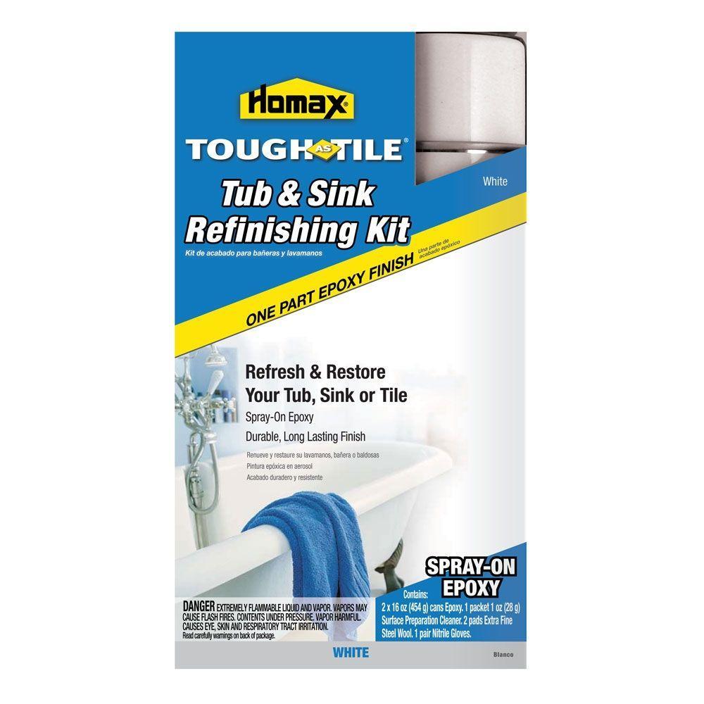 Homax 32 Oz White Tough As Tile One Part Epoxy Aerosol 2