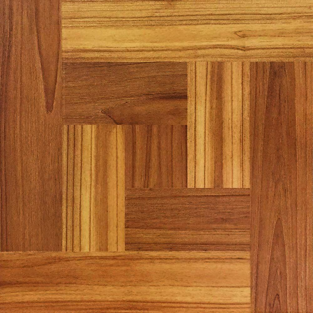 TrafficMASTER Brown Wood Parquet 12 in  x 12 in  Peel and Stick     TrafficMASTER Brown Wood Parquet 12 in  x 12 in  Peel and Stick Vinyl Tile
