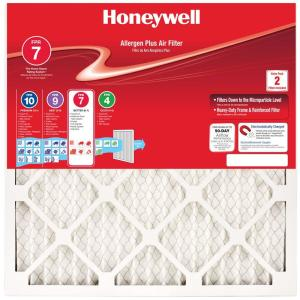 Honeywell 16 In X 25 In X 1 In Elite Allergen Pleated Fpr 10 Replacement Air Filter 91001 011625 The Home Depot