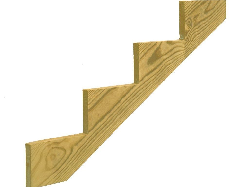 Outdoor Stair Stringers Deck Stairs The Home Depot | Wood Steps For Sale | Wood Hand | Home | Design | Non Slip | Platform