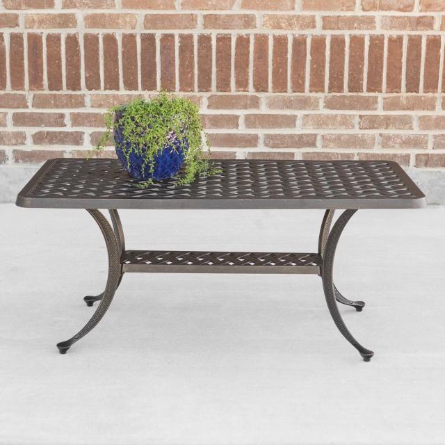 walker edison furniture company cast aluminum wicker style patio