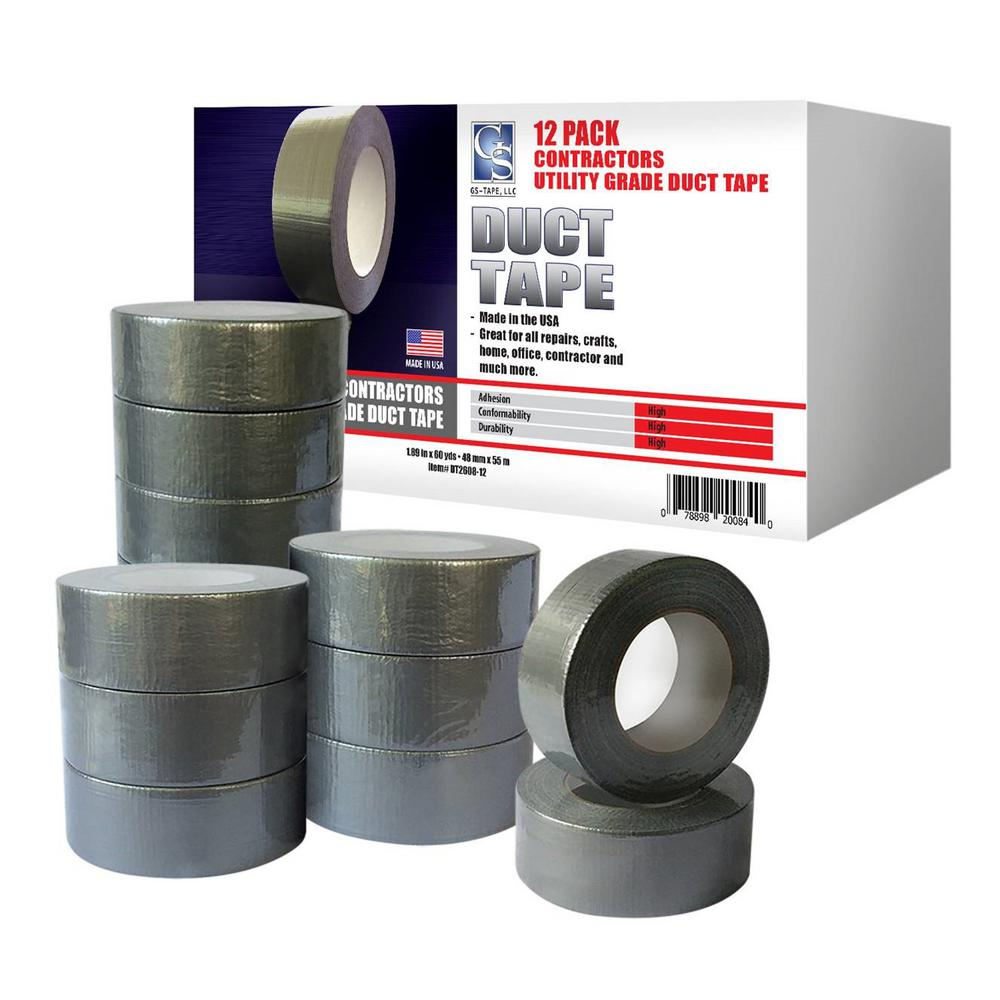 1 89 In X 60 Yd Utility Grade Duct Tape Silver Contractors Pack