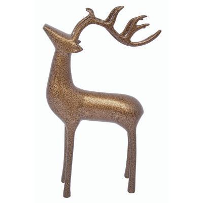 Aluminum Decorative Reindeer In Gold