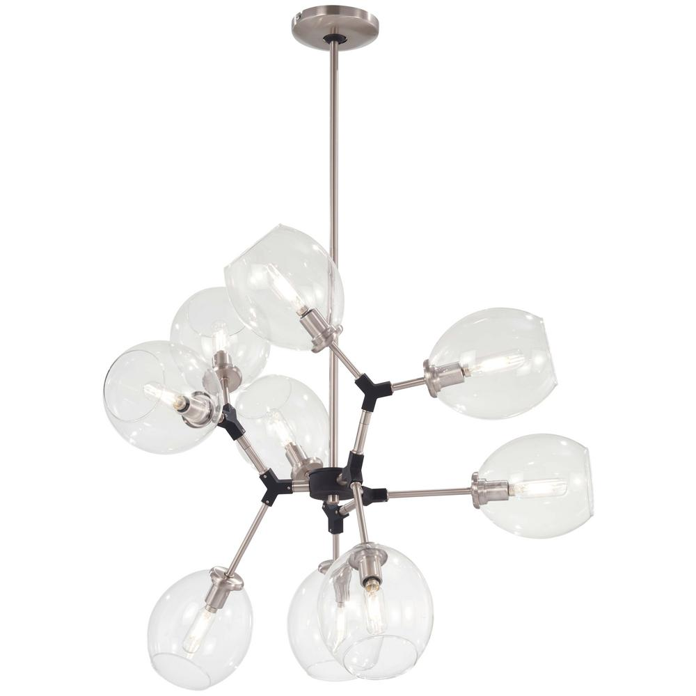 George Kovacs Nexpo 9 Light Aged Brushed Nickel Chandelier