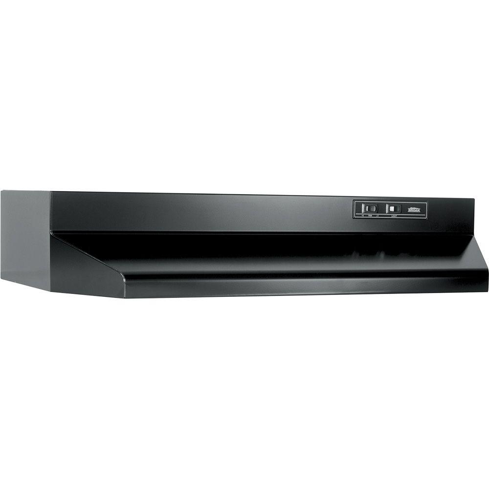Broan Nutone 40000 Series 30 In Under Cabinet Range Hood With Light In Black 403023 The Home Depot