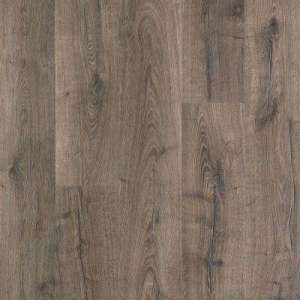 Underlayment attached   Laminate Wood Flooring   Laminate Flooring         Flooring Features  Underlayment attached  Compare  Outlast  Vintage  Pewter Oak 10 mm Thick x 7 1 2 in  Wide