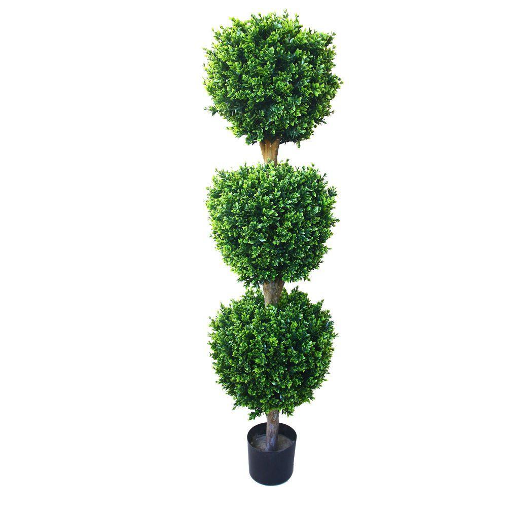 Romano 5 Ft Hedyotis Triple Ball Topiary Tree 50 10007 R