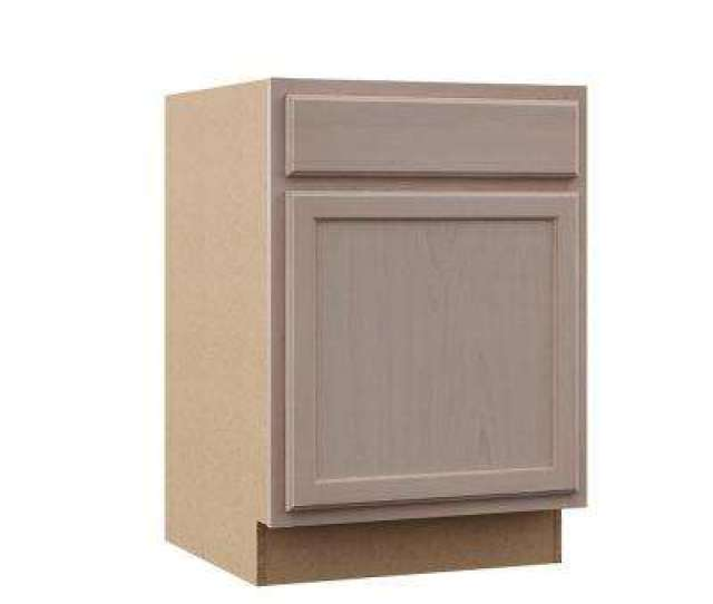Hampton Assembled 24x34 5x24 In Base Kitchen Cabinet In Unfinished Beech
