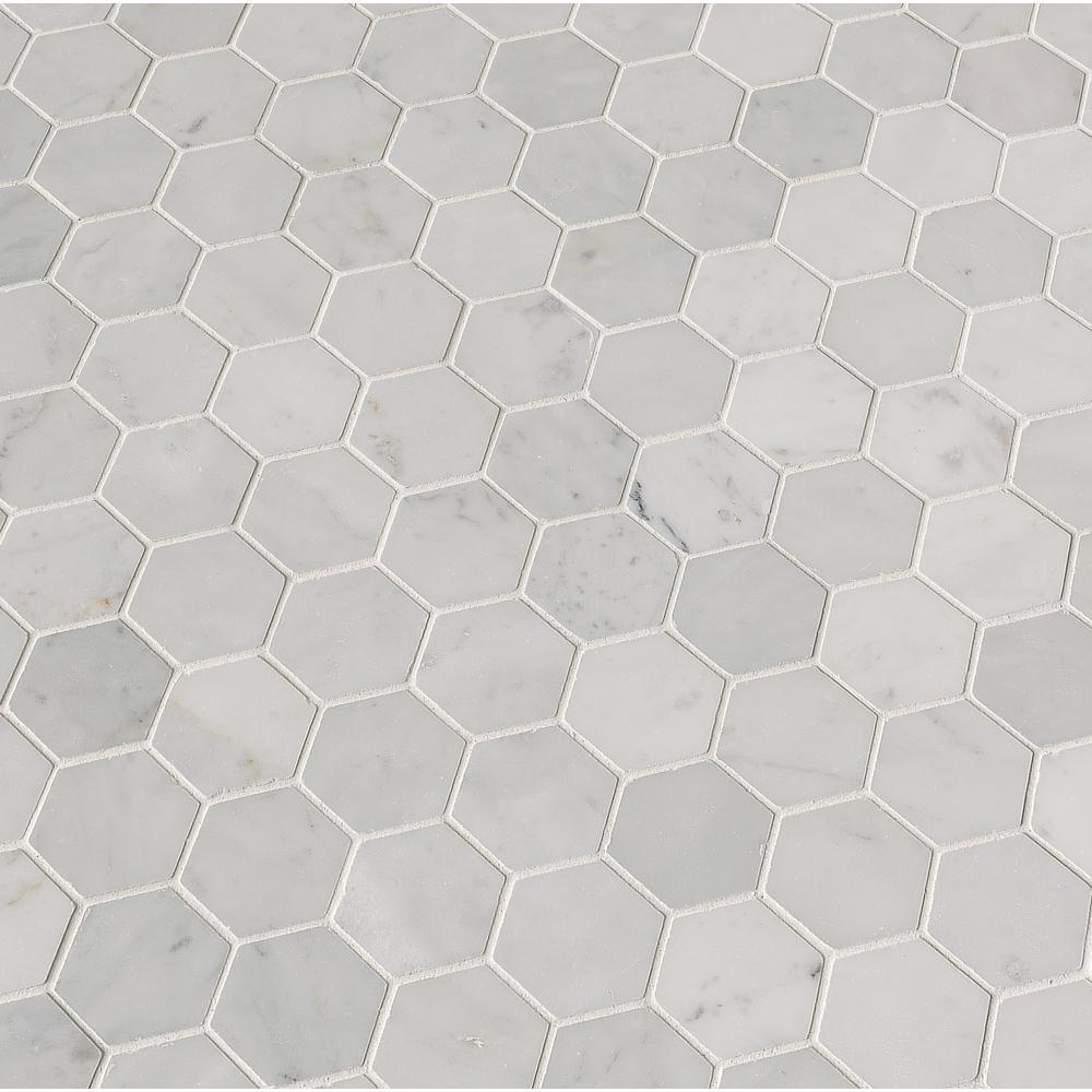 hexagon cwmm2hex carrara white marble